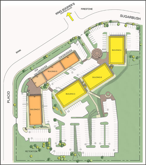 Bergen Village Shopping Center Building Map